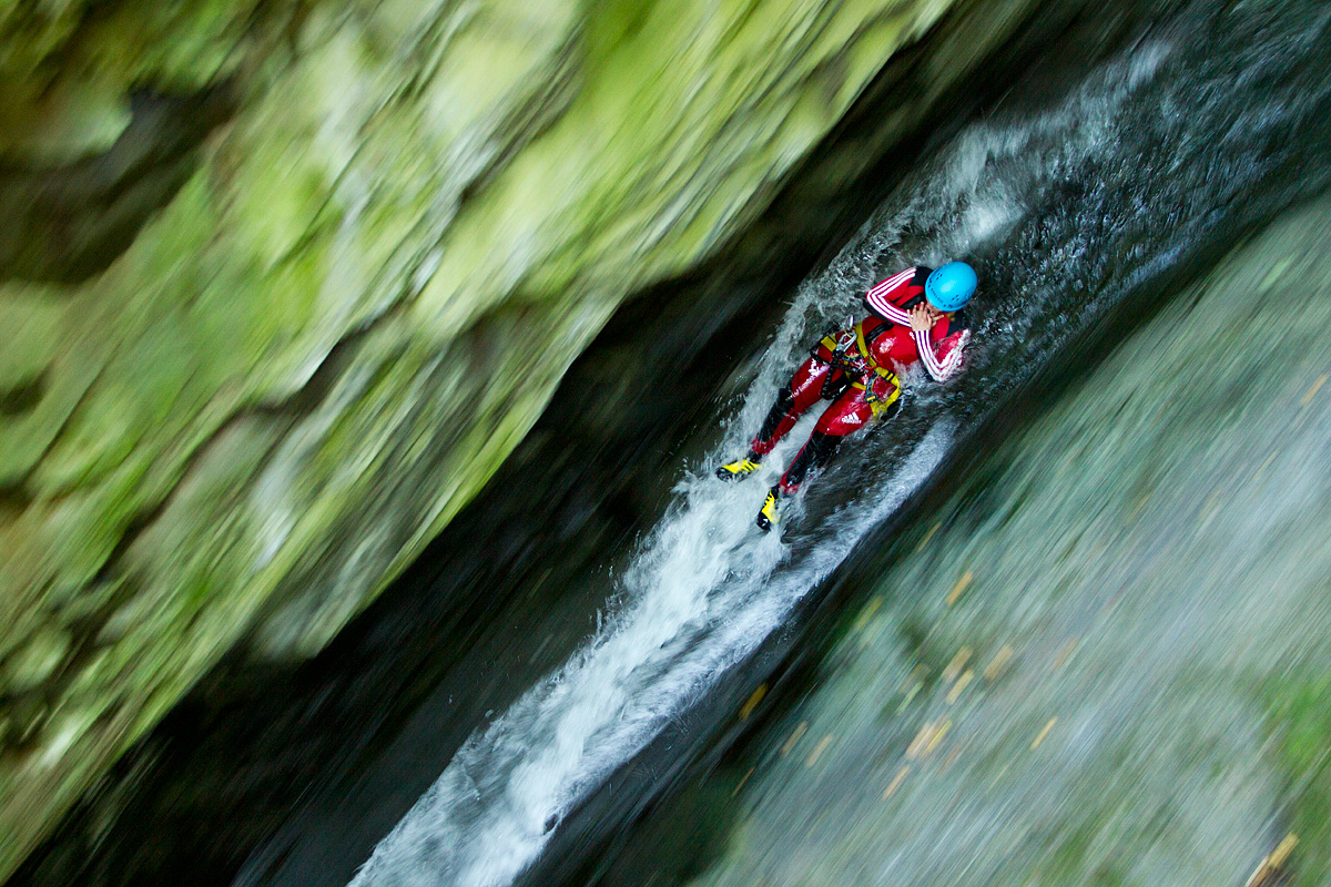 Advanced canyoning tour