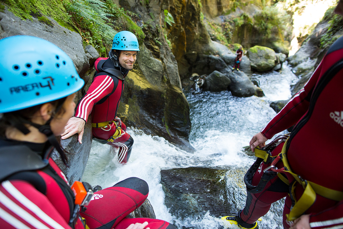 Guided canyoning tours