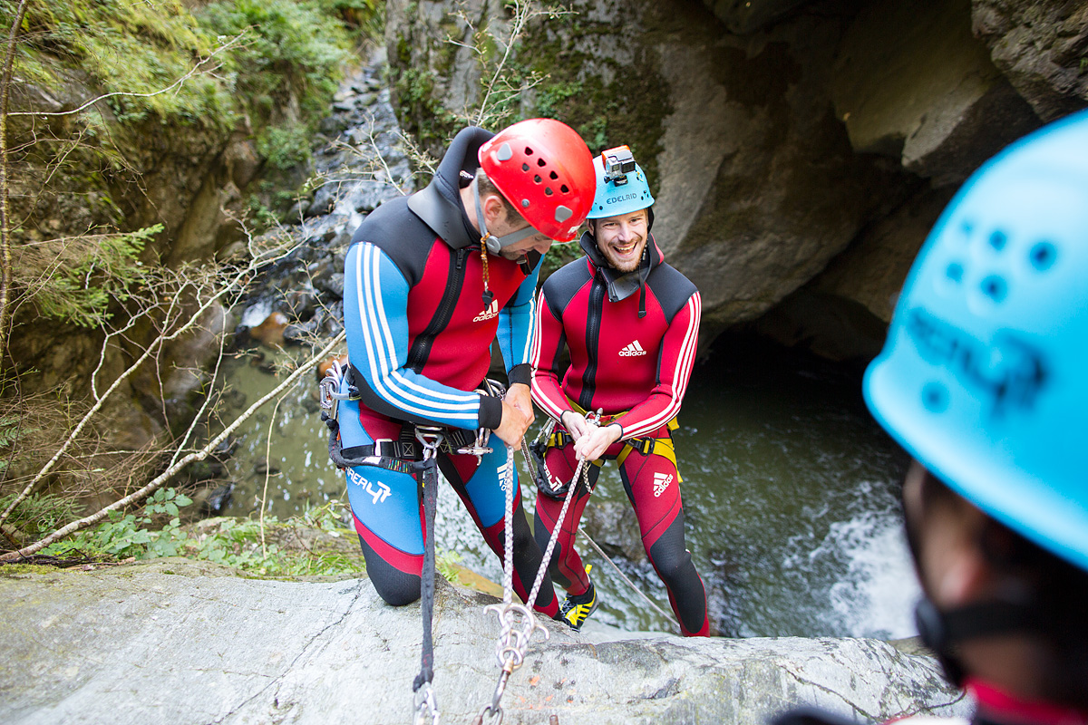 Canyoning at AREA 47