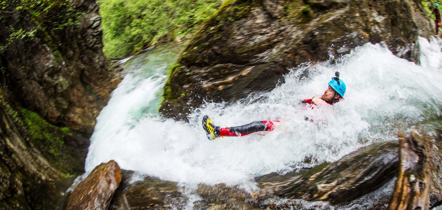 Canyoning slide in Tirol