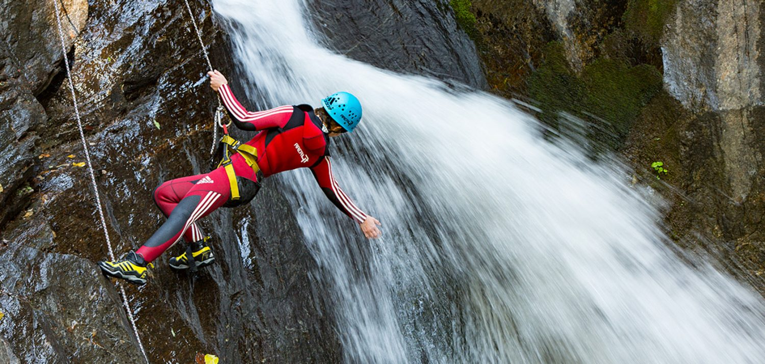 Canyoning tour at AREA 47