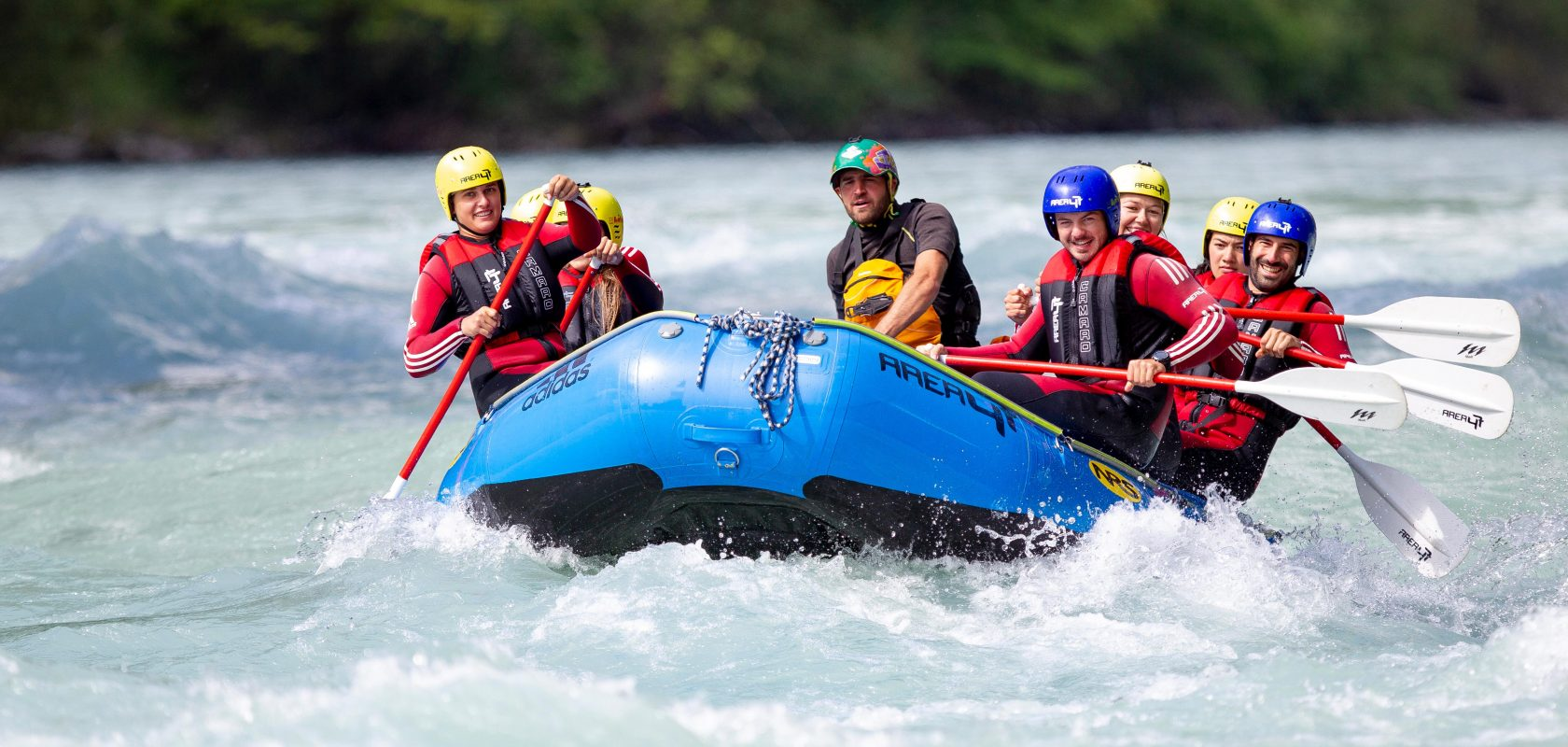 Rafting adventure at AREA 47