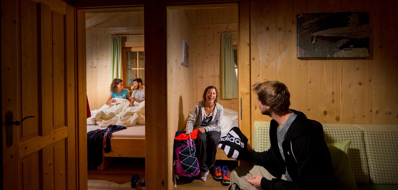 Sleeping in a lodge