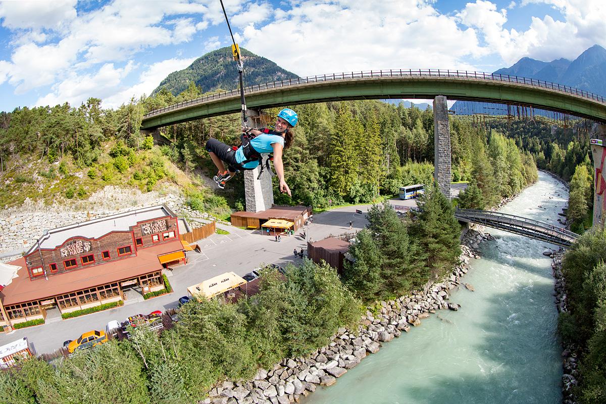 Zip line in Tirol