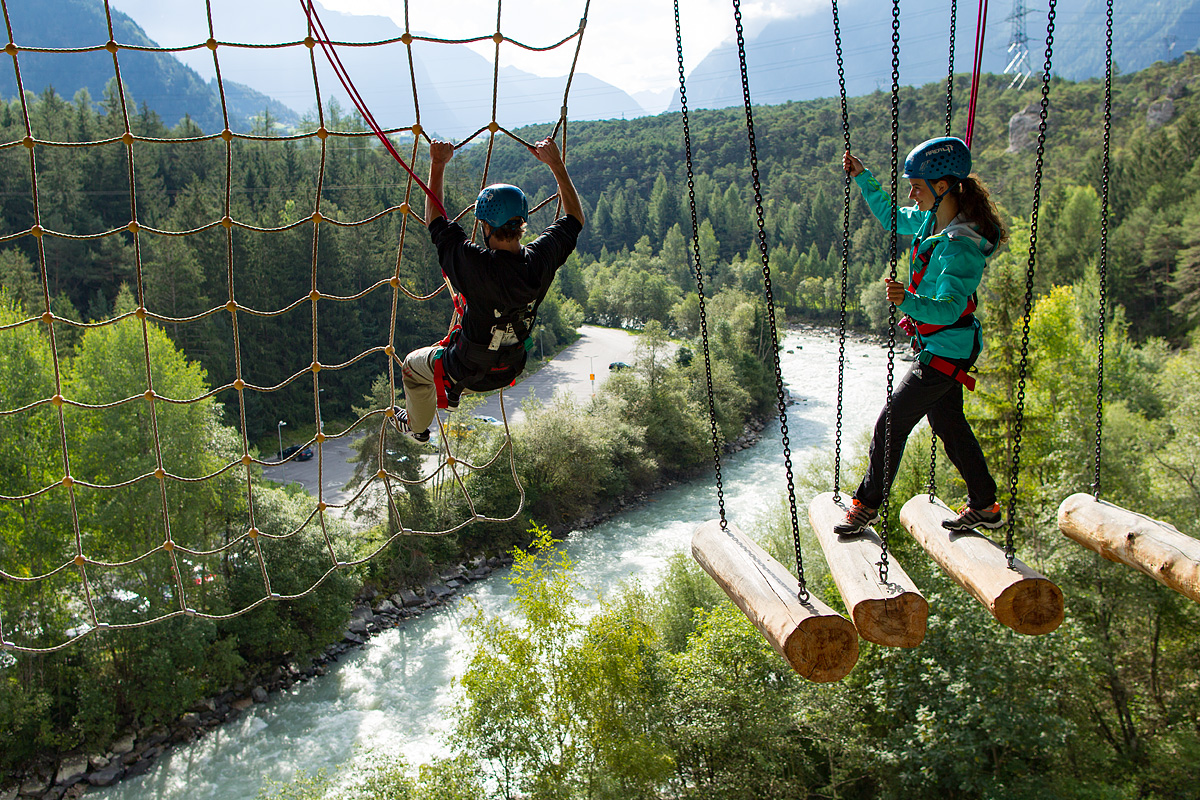 Highest high ropes course in Austria at AREA 47