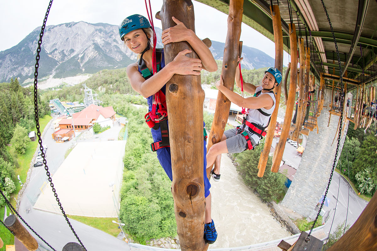 high ropes course in Tyrol