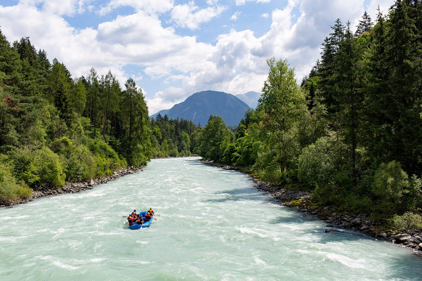 Beginner rafting tour