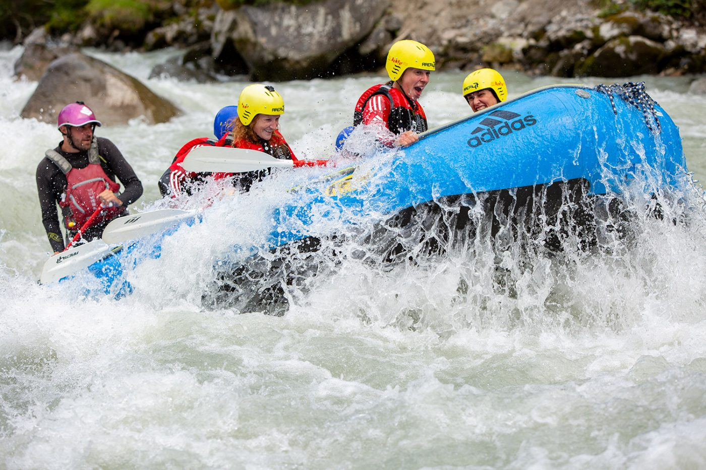 Rafting action in Tirol