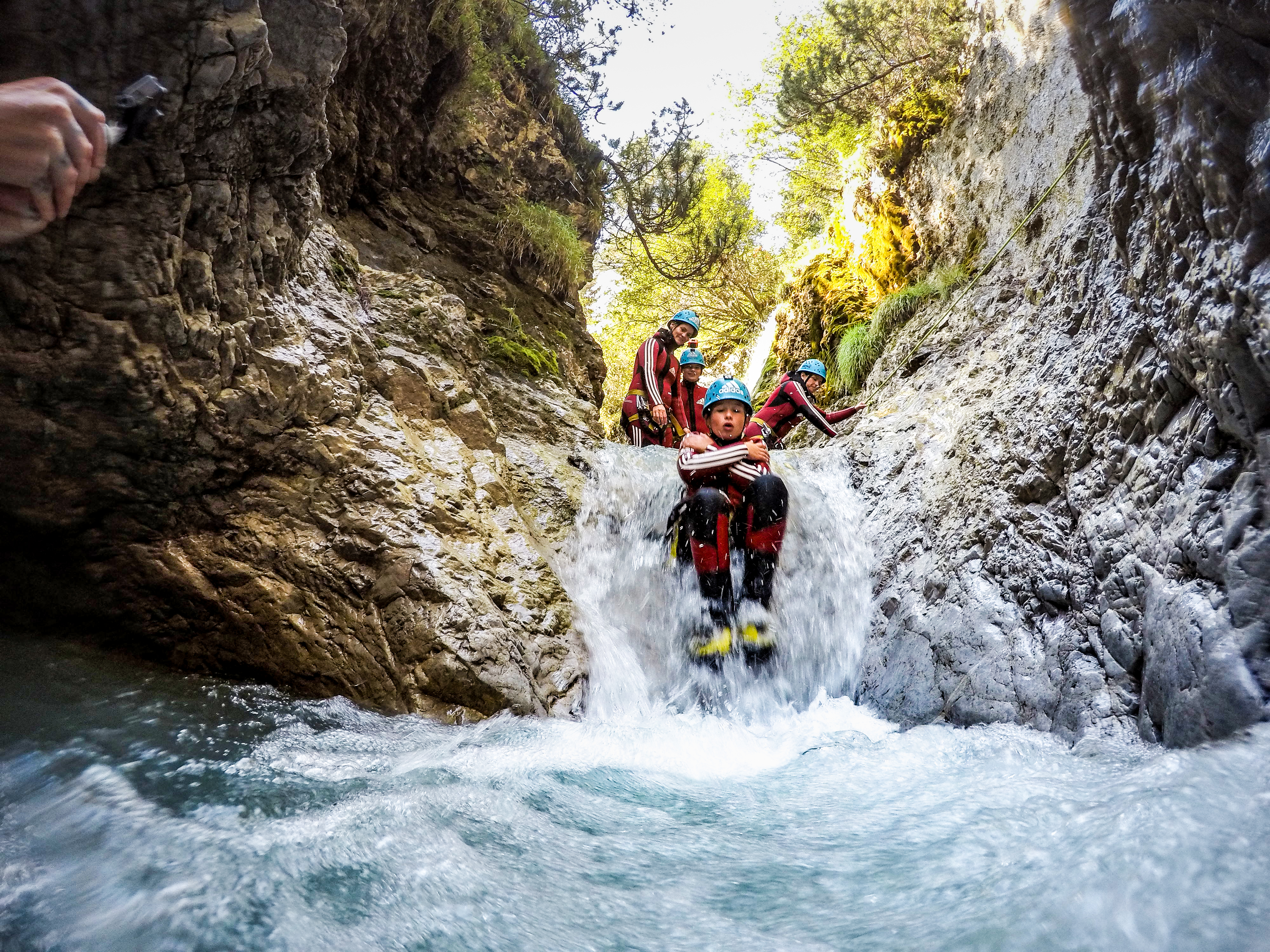 Kids canyoning Oetztal