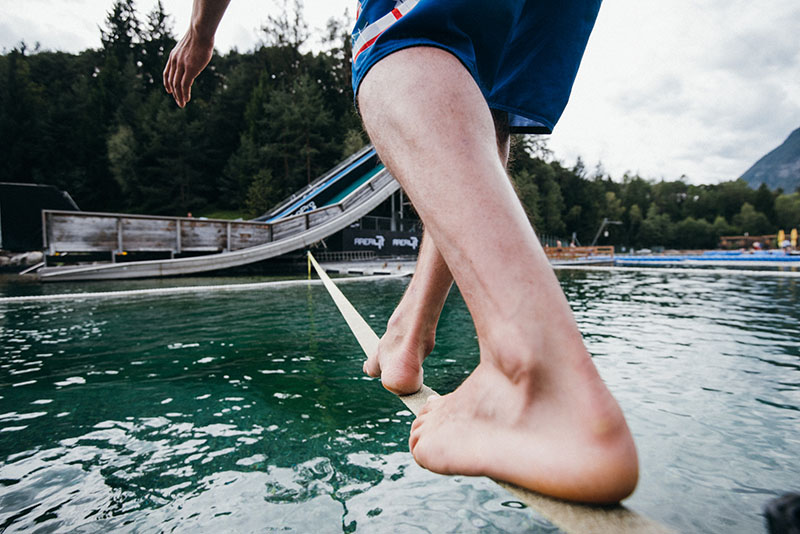 Slackline over the lake