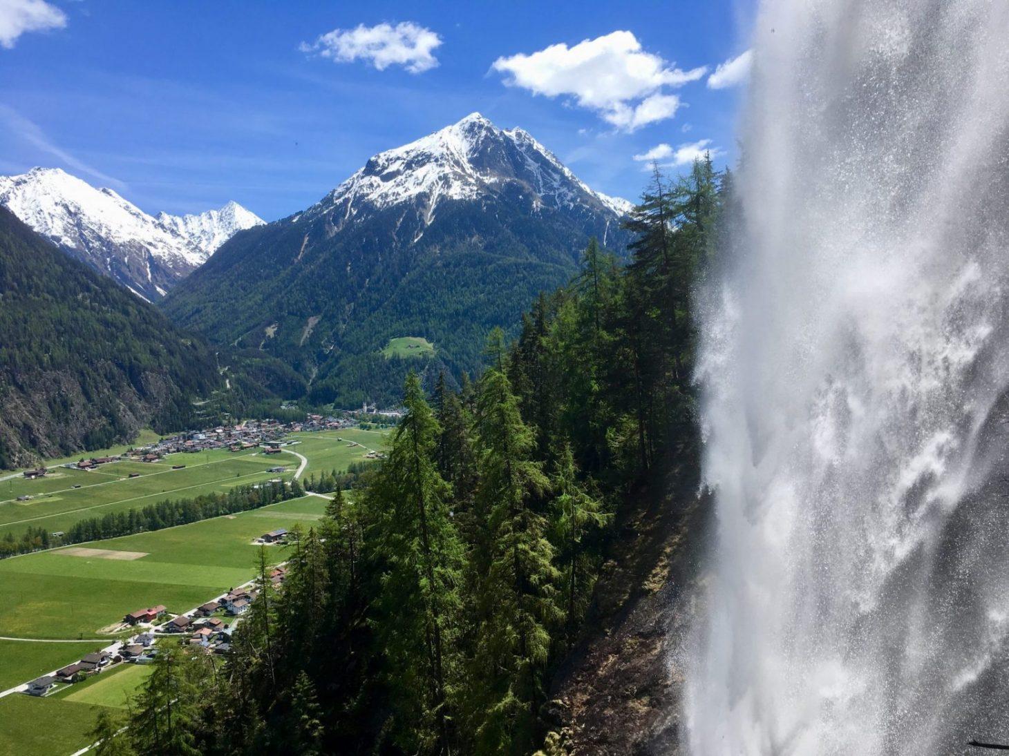 Via verrata at Lehner waterfall