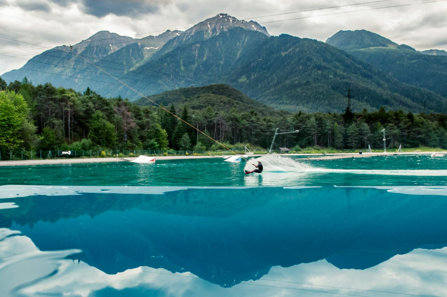 Wakeboarding Pros at AREA 47 in Tyrol Austria