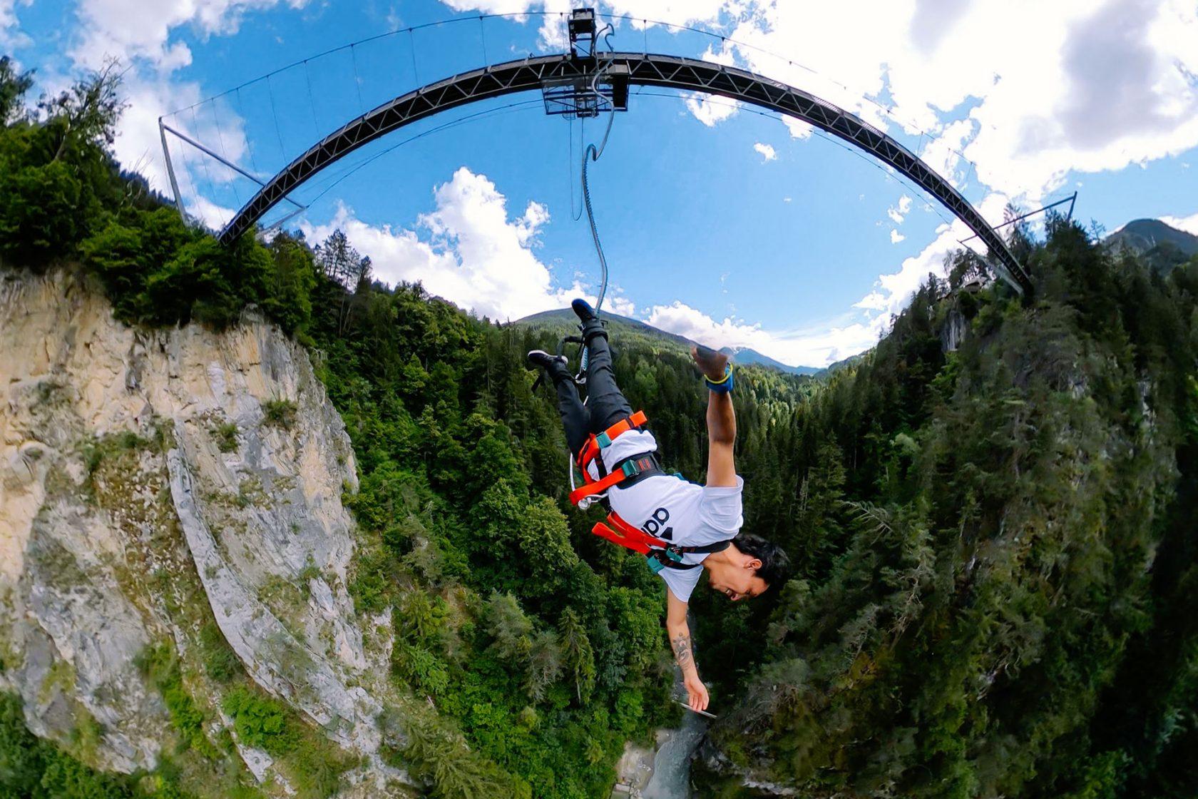 Bungy Jumping at the Benni - Raich - Bridge