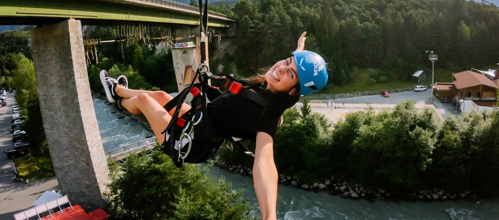 Flying Fox in the heart of the alps