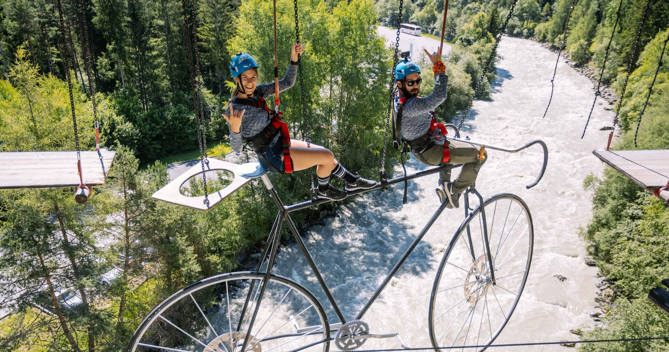 Biggest high ropes course in Austria