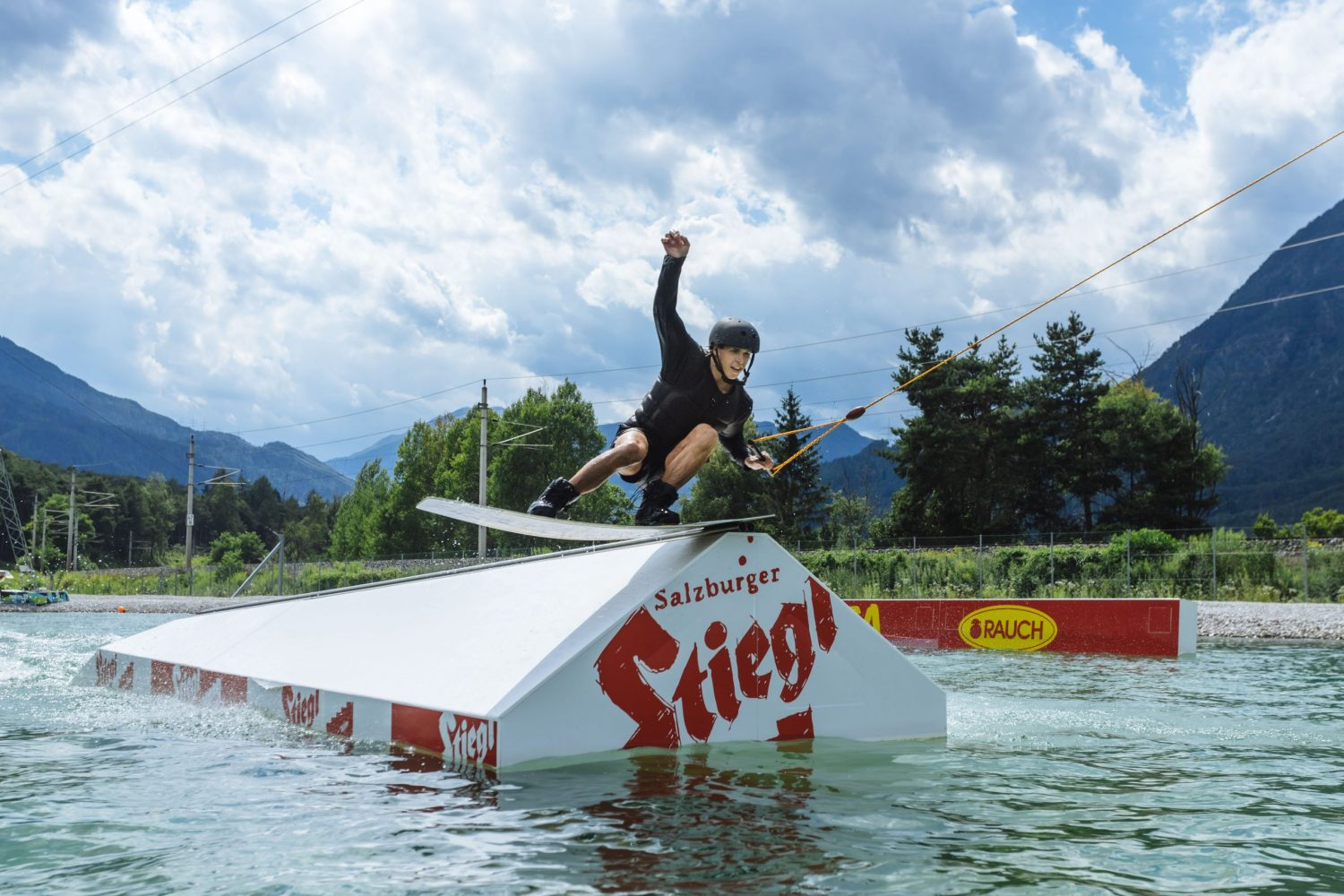 Wakeboarding at AREA 47 in Tyrol Austria