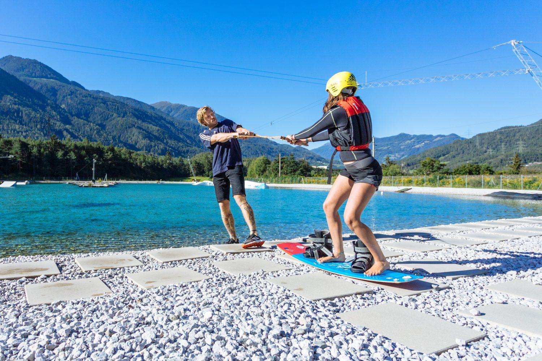 Wakeboarding for beginners in Tyrol, Austria