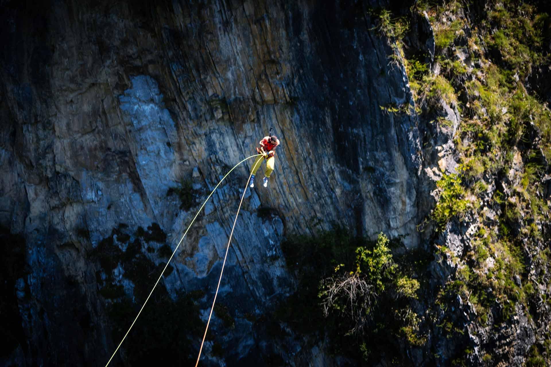 45 metres of free fall