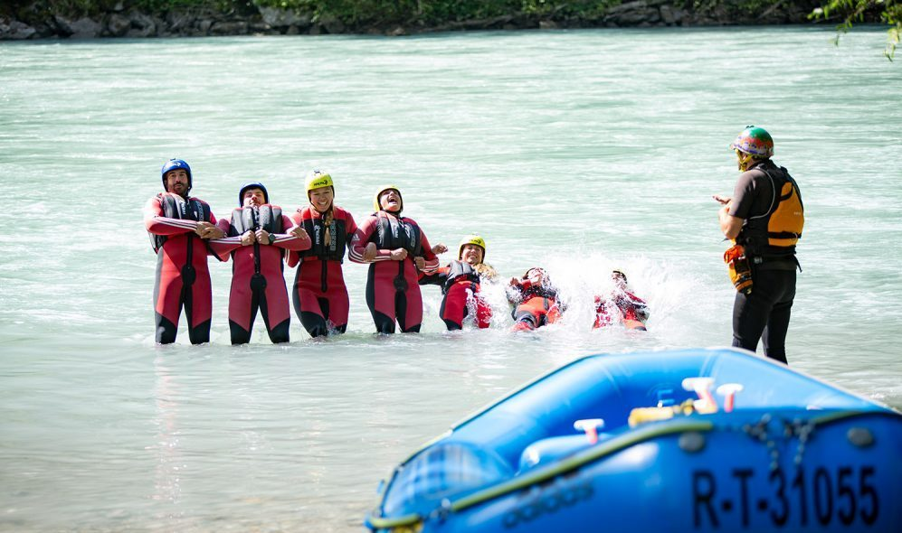 Rafting adventures in Tyrol, Austria