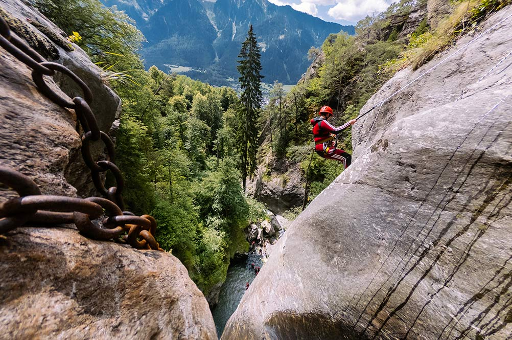 advanced canyoning tours in europe