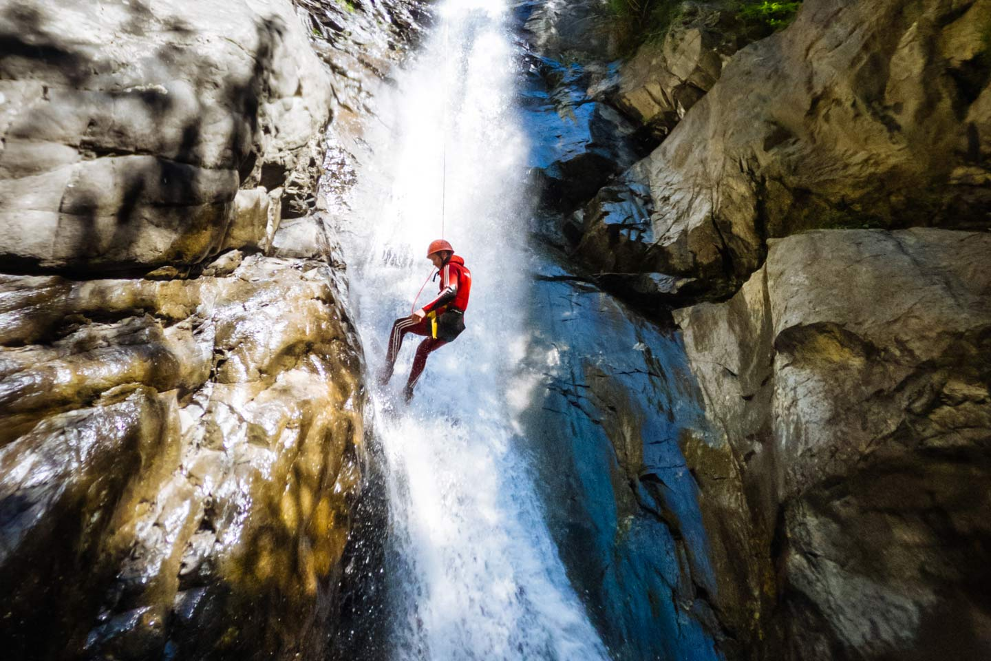 outdoor adventure canyoning