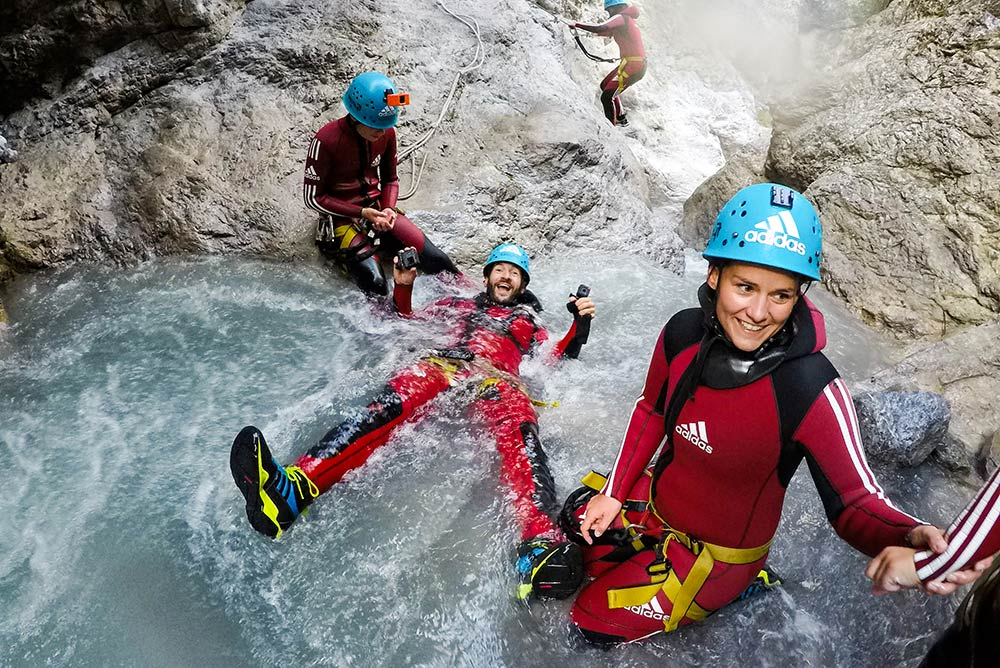 canyoning for beginners in europe