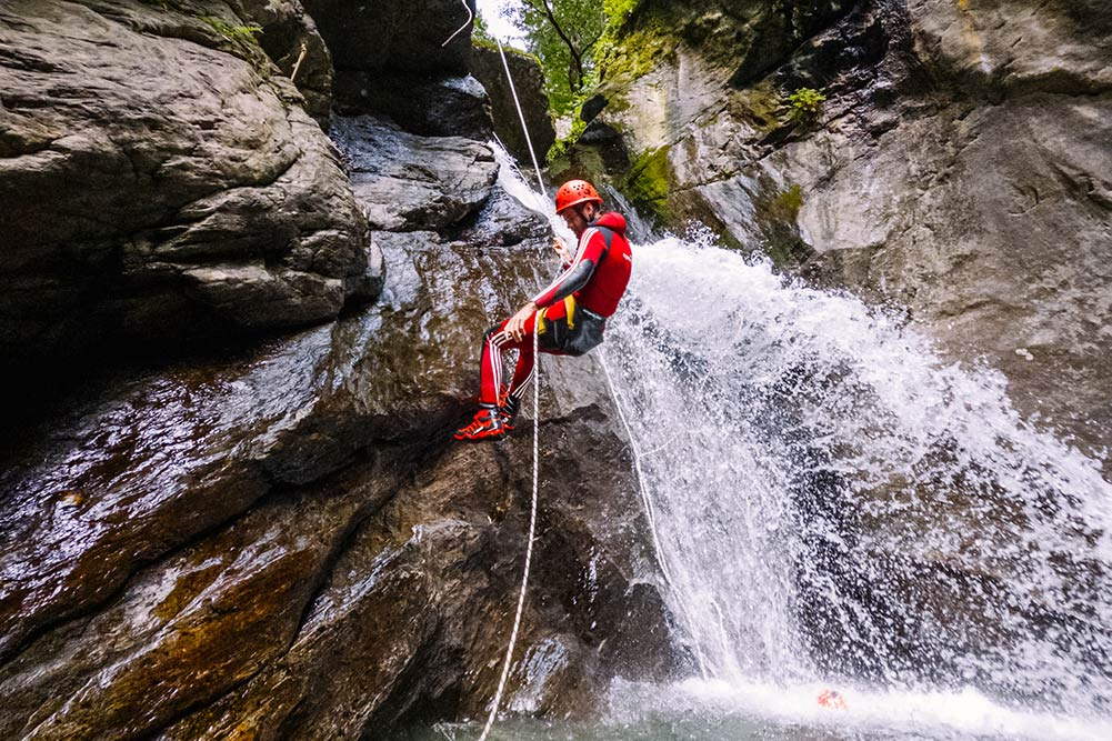 avanced canyoning tours in europe
