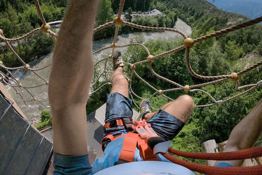 highest high ropes course in tyrol austria