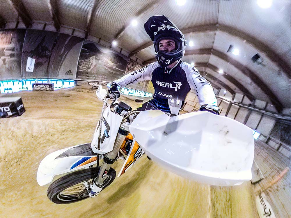e-motocross indoor track in tyrol