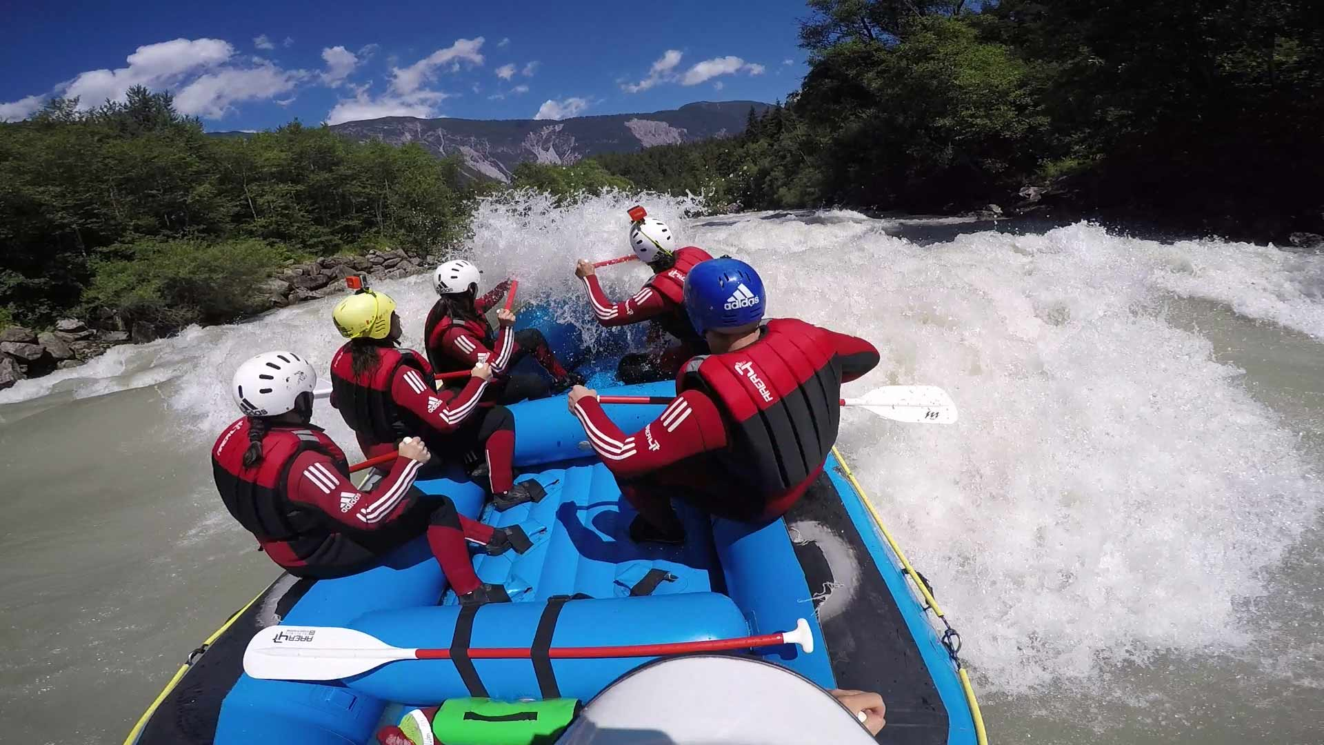 guided white-water rafting tours