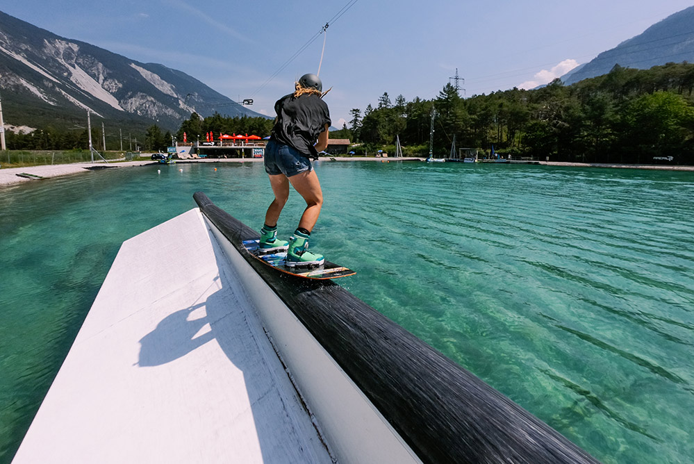 wakeboarding in the alps