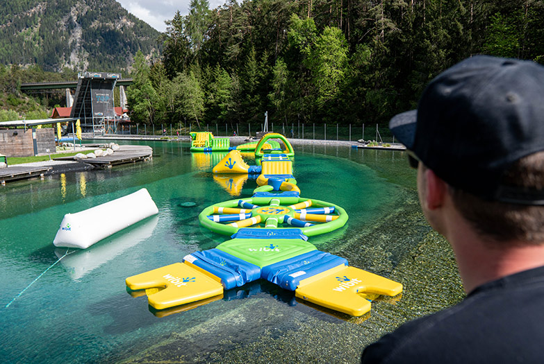 Water parcour for adults