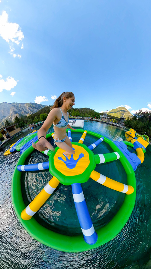 Water park in the largest outdoor playground