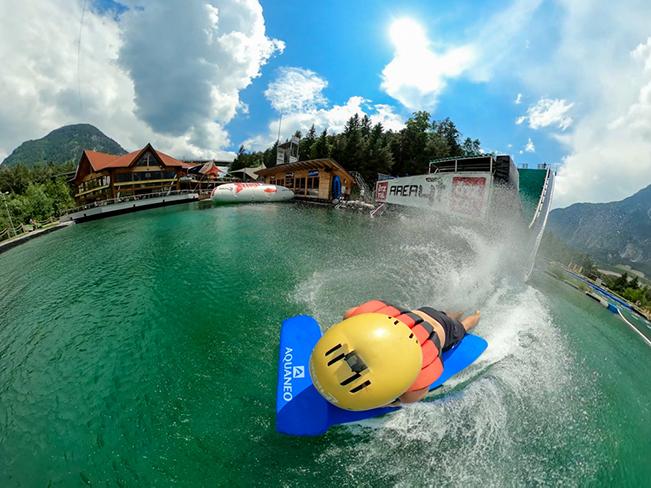Slide down in hydrospeed