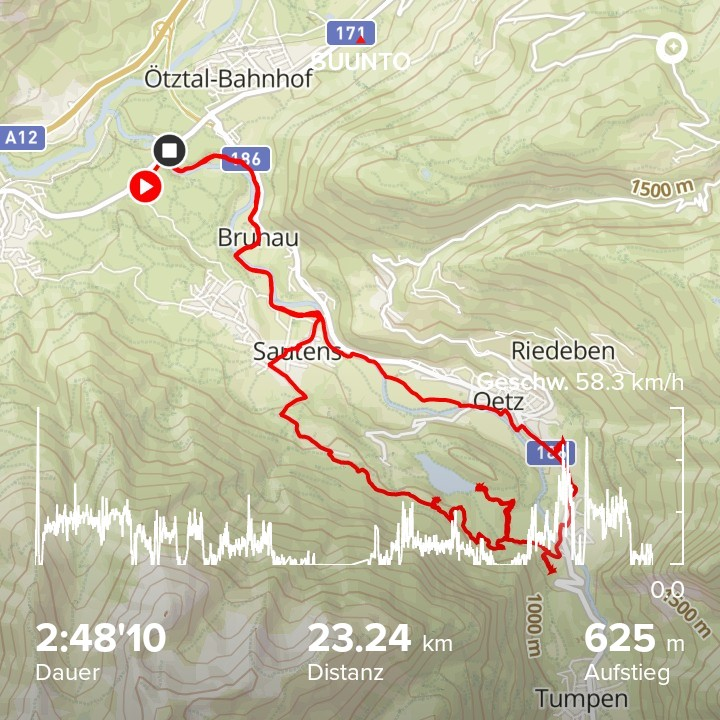 Guided mountainbike tour to Piburger See