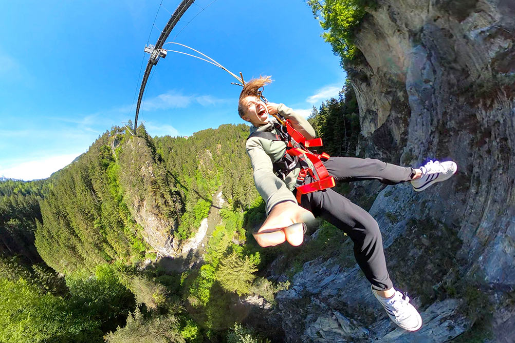 Canyon Swing experience in Austria