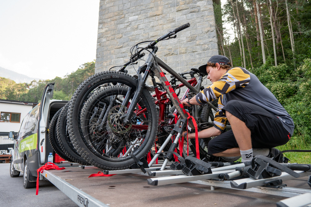 Bike transfer on our all-inclusive bike trip to Soelden