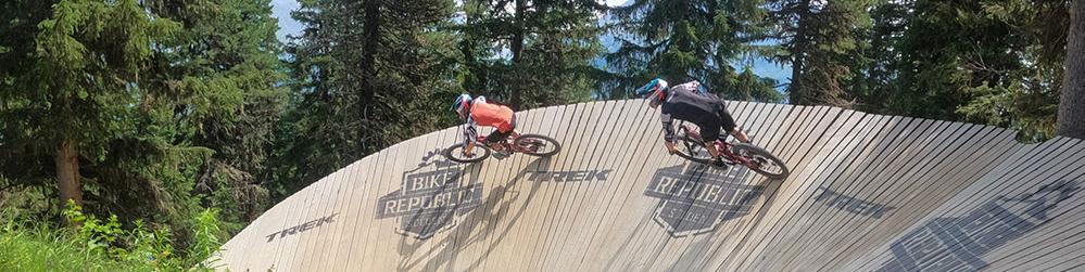 Wallrides in Bike park Soelden