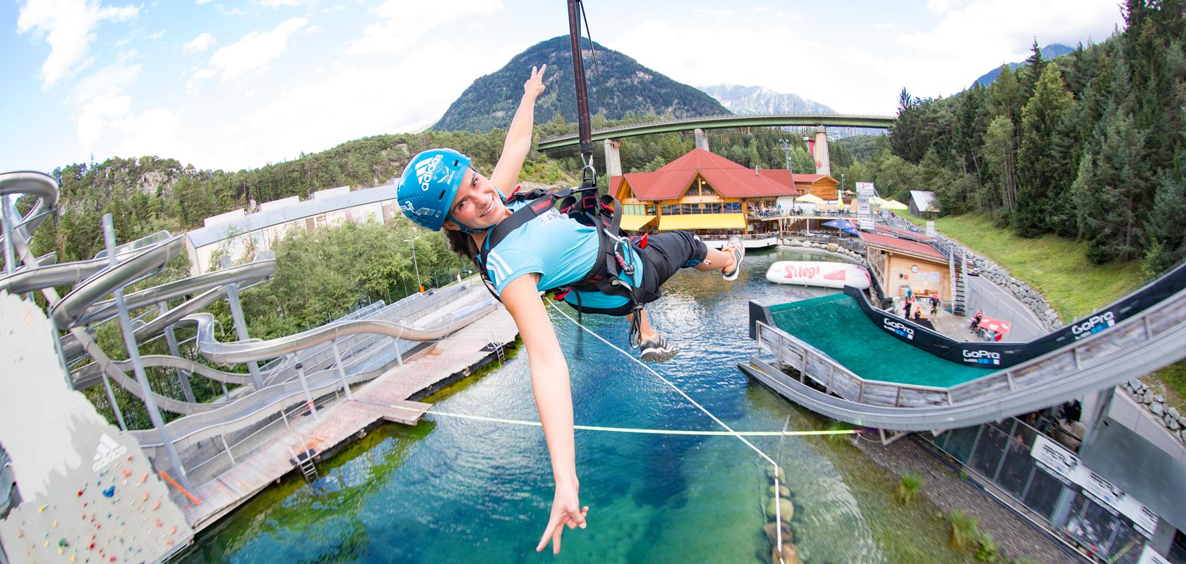 Flying Fox - die Zipline über die Water AREA