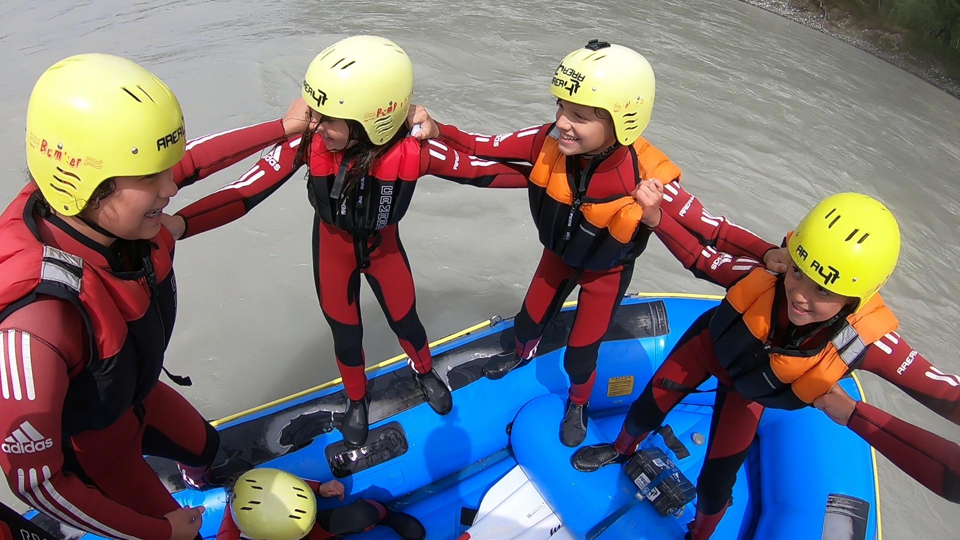 Rafting für Kids mit der AREA 47