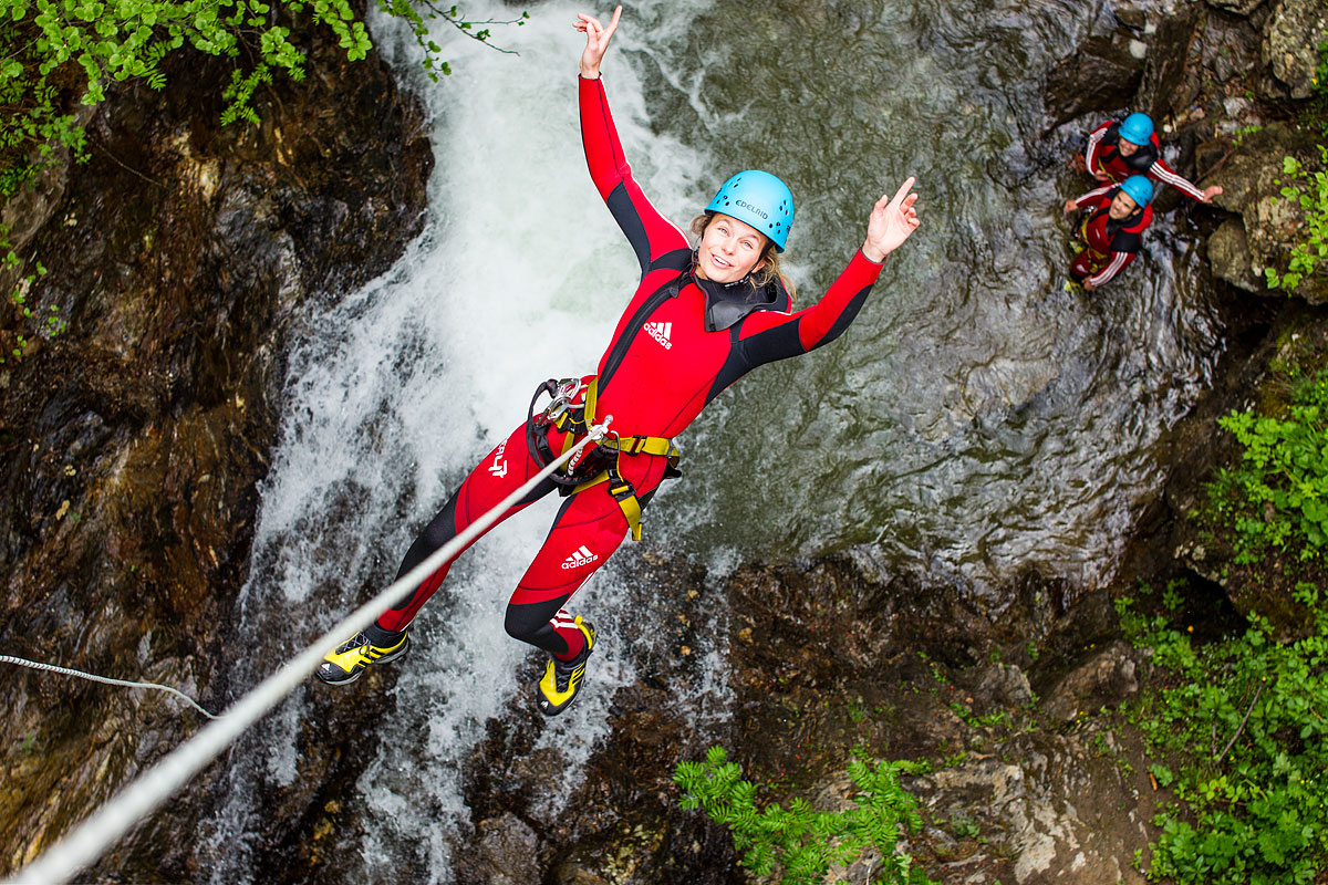 Canyoning Tour mit der AREA 47
