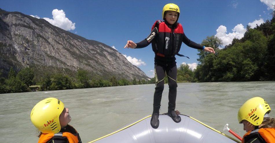 Entertainment auf dem Boot: Rafting auf dem Inn