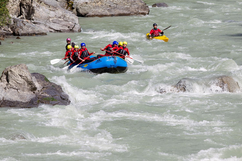 Abenteuer in Tirol: Rafting mit der AREA 47