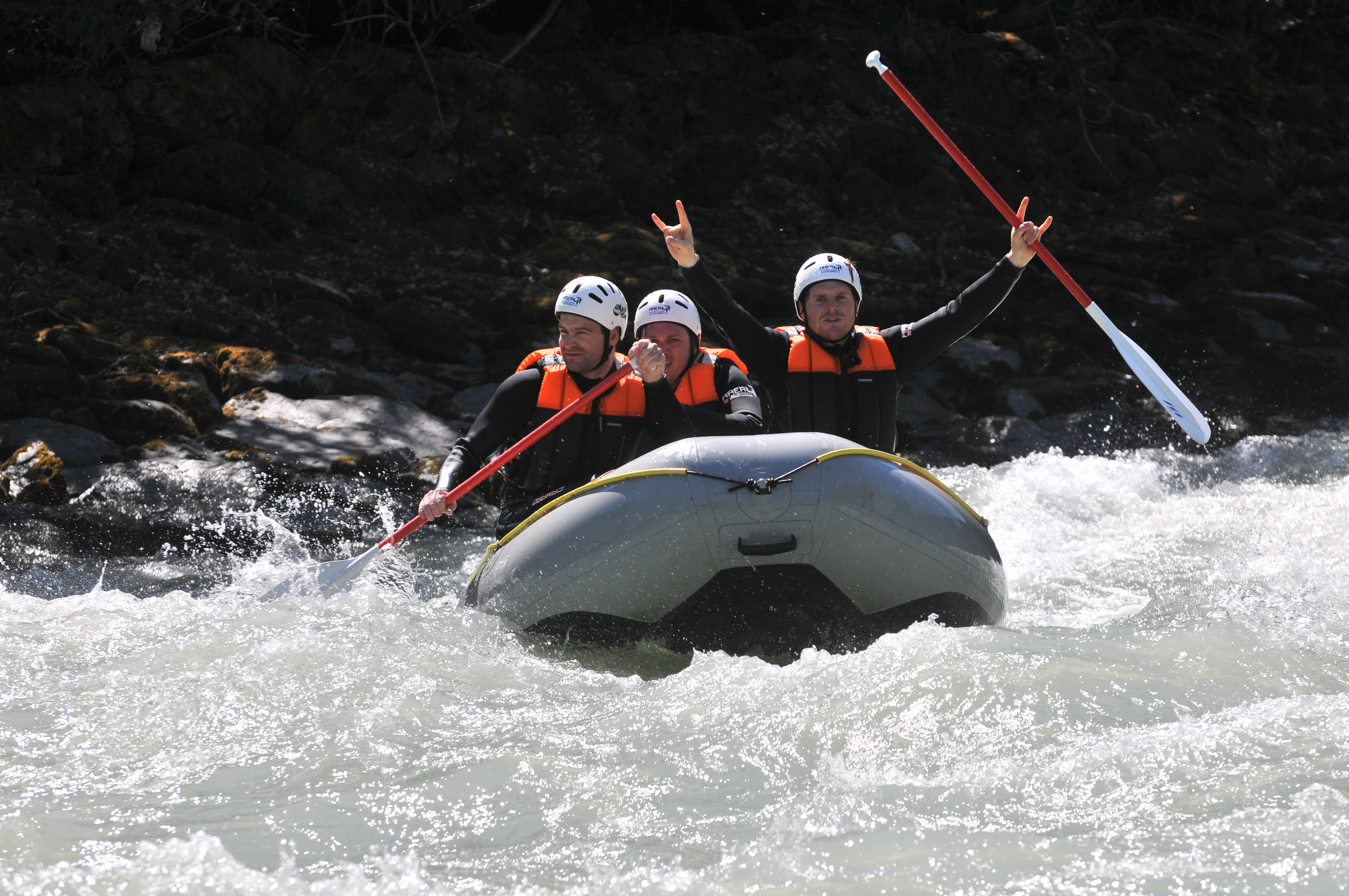 Power Rafting auf dem Inn