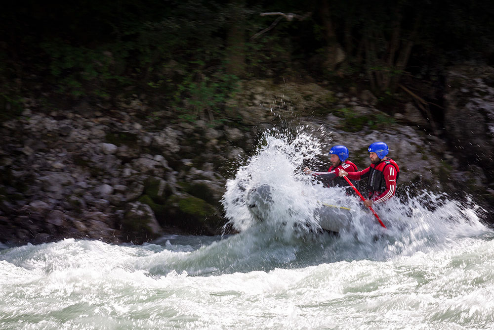 Rafting im Ötztal in Österreich
