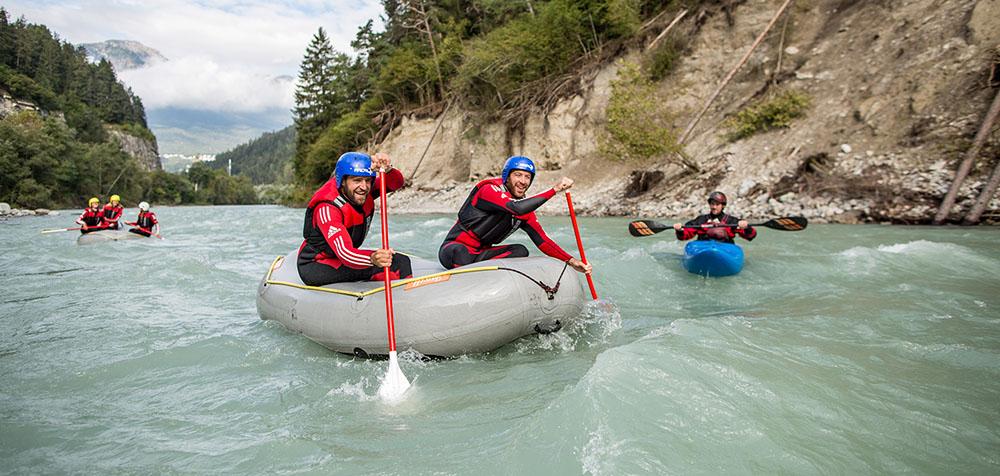 Rafting auf dem Inn in Österreich