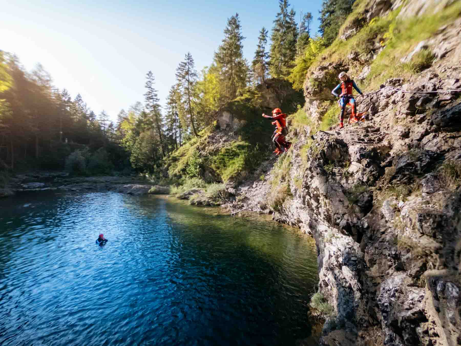 Canyoning Tirol Pool Drop
