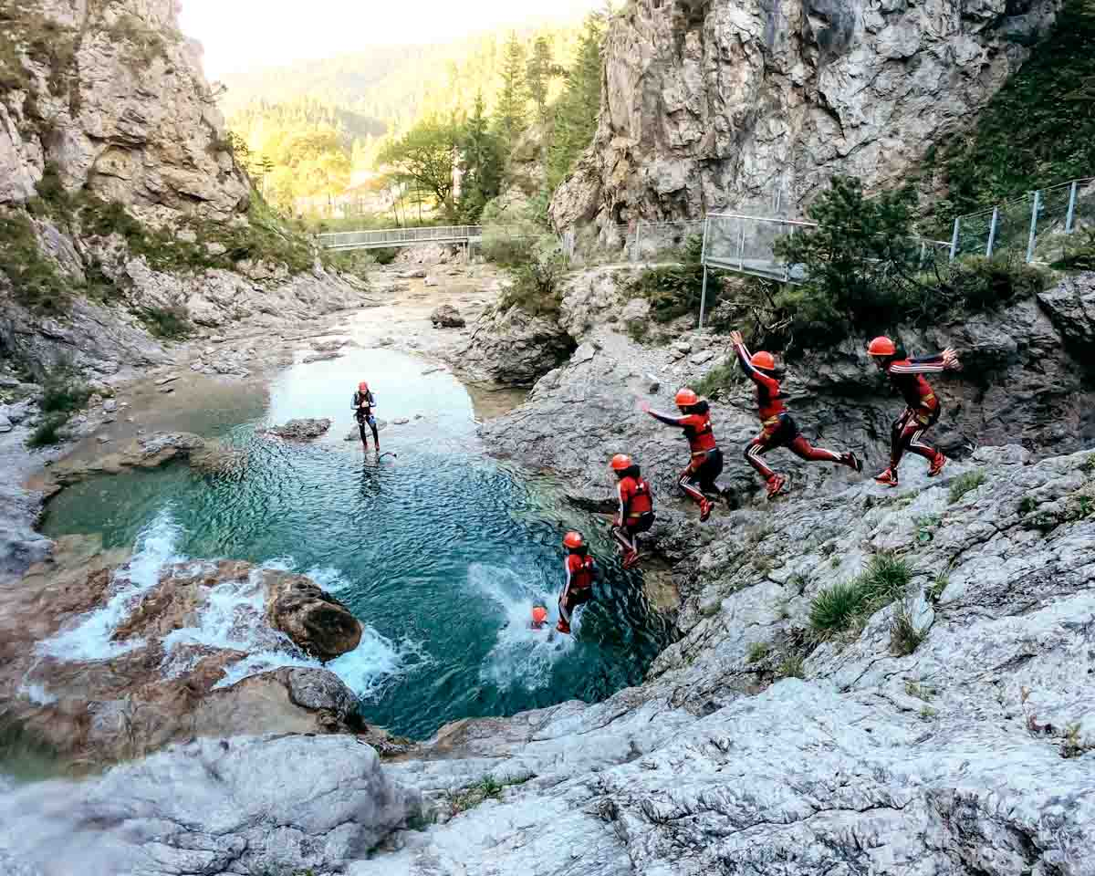 Canyoning Tour Plansee