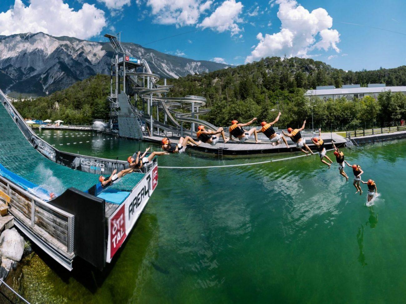 Actionreicher Outdoor-Wasserpark im Ötztal in Tirol