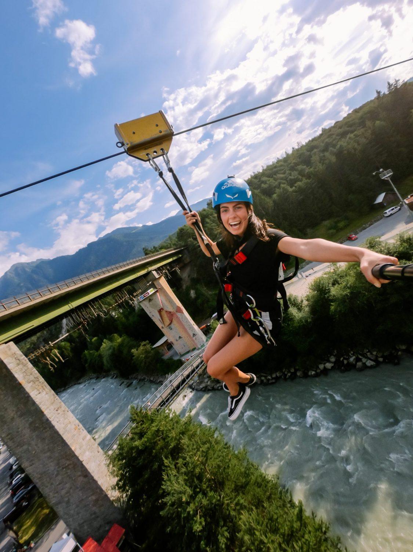Zipline mitten in den Alpen